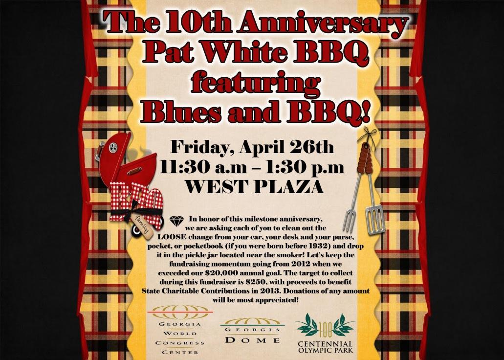 Pat White BBQ Flyer