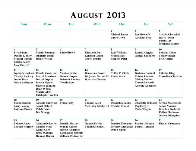 GWCCA August Birthdays