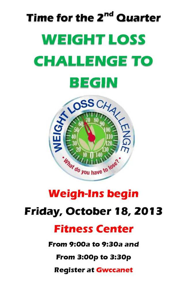 2nd Qtr Weight Loss Challenge Sign