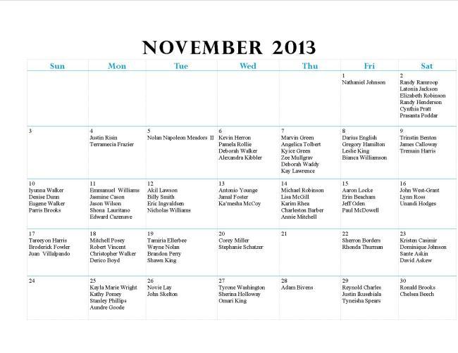 GWCCA November Birthdays