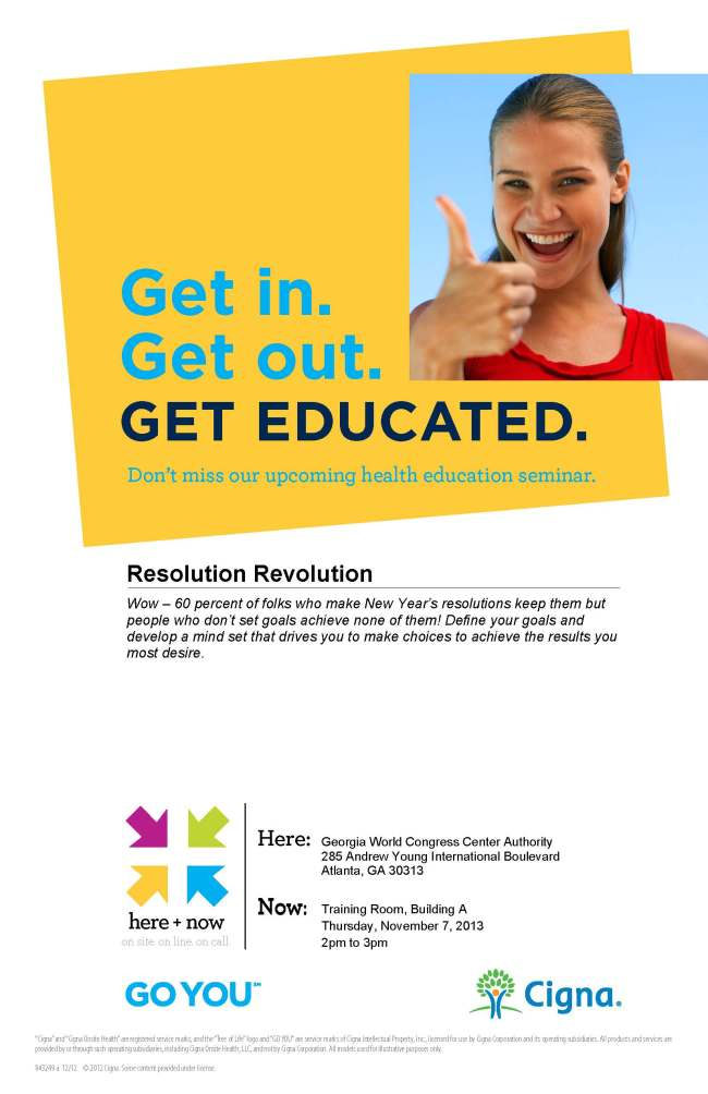 Resolution Revolution Seminar Flyer