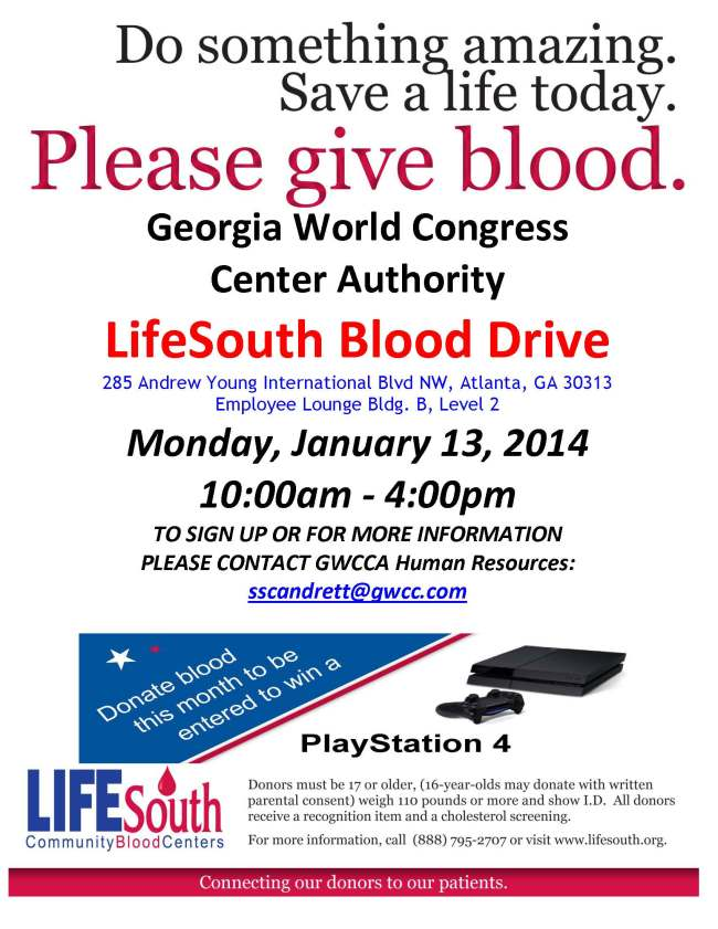 Blood Drive 2014 Flyer