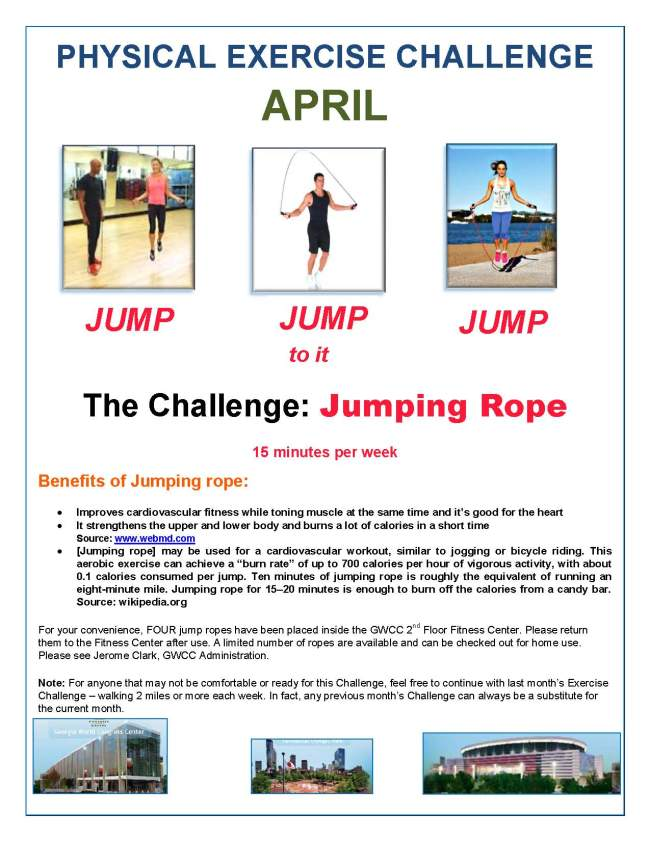 April Physical Exercise Challenge