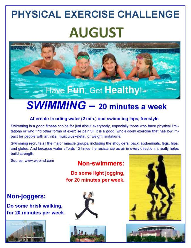 August Physical Exercise Challenge