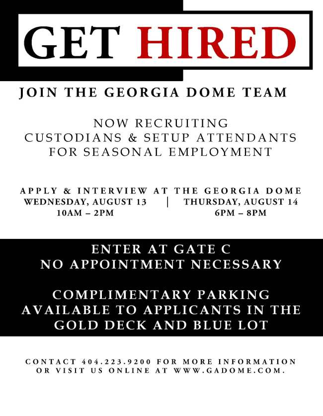 Seasonal Employment Announcement