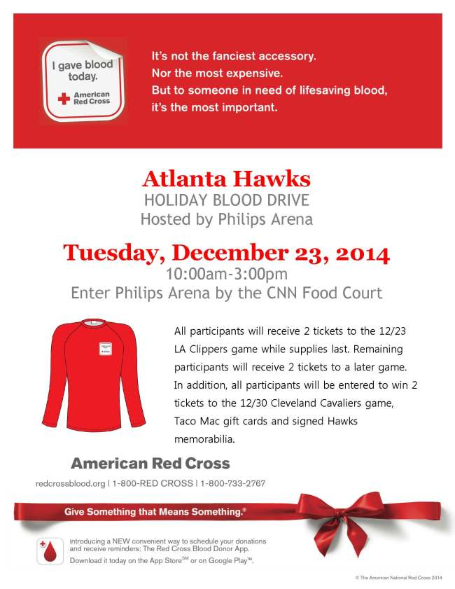 hawks blood drive flyer
