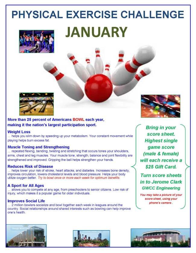 Januarys Physical Exercise Challenge II