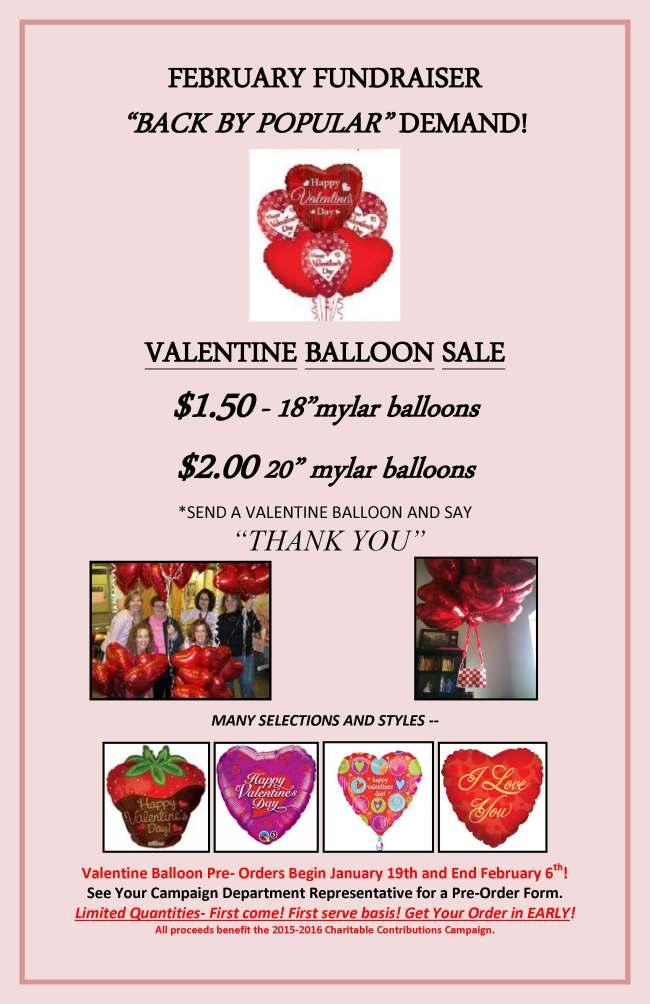 SCCP Valentine Balloon Sale Poster 2015