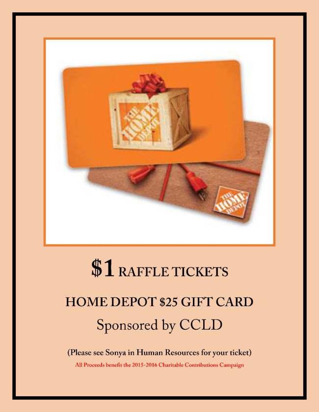 SCCP June Fundraiser Raffle CCLD Home Depot 2015