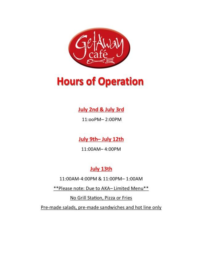 GAC AKA Hours of Operation