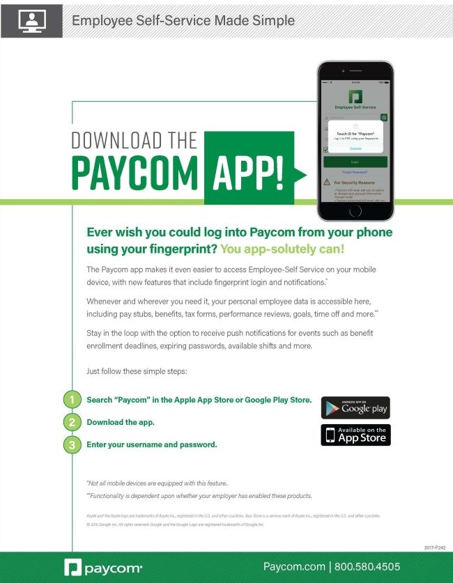 Paycom App Slick