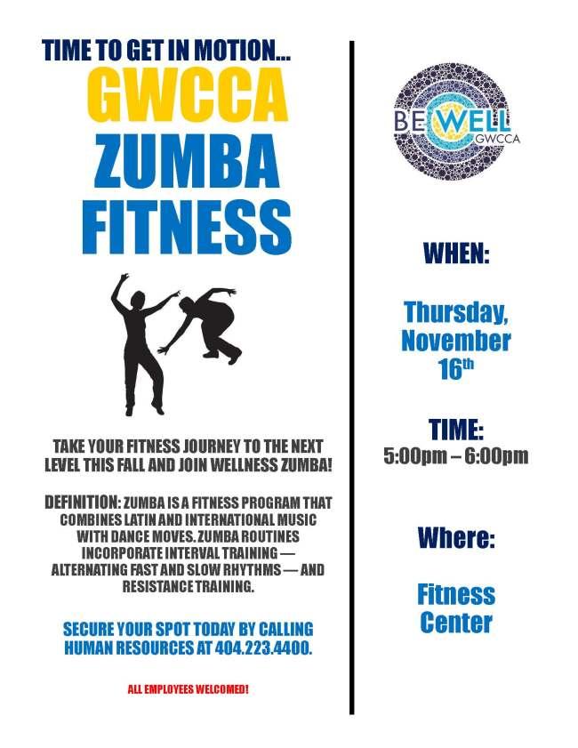 Zumba Fitness Flyer 11.16.17