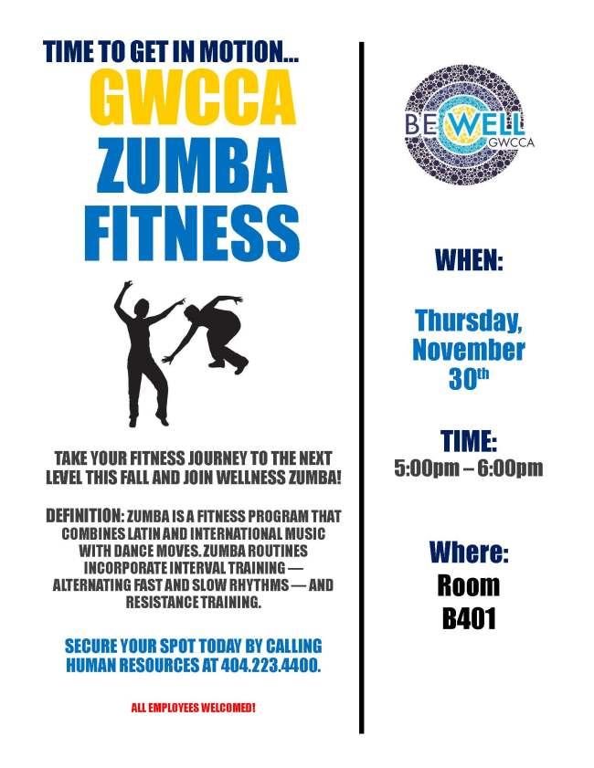 Zumba Fitness Flyer 11.30.17