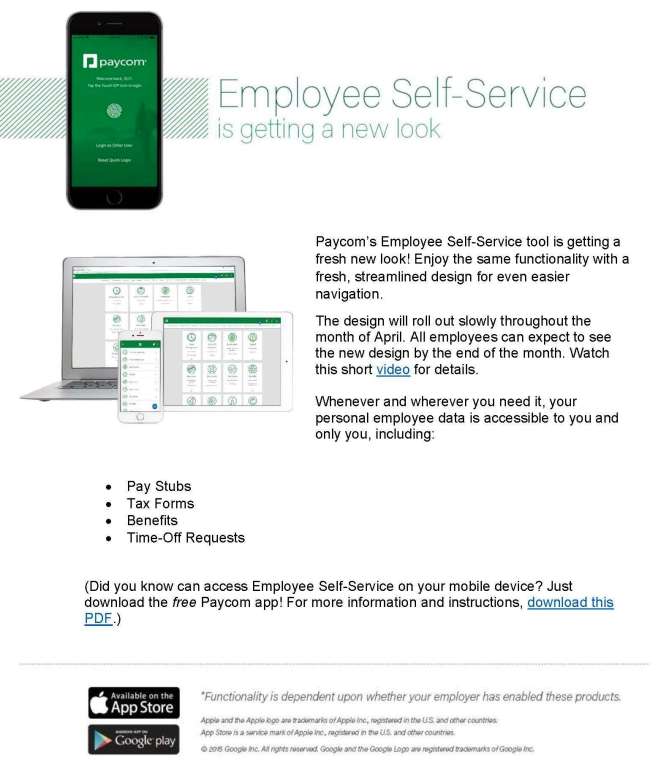 Paycom -Employee ESS